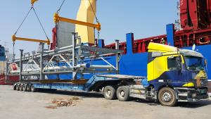 grand cargo loading on transportation company of dubai