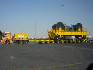 Heavy industrial equipment is safely and effectively transport through sea freight