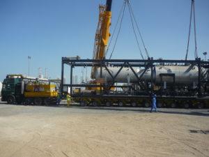 land freight cargo loading