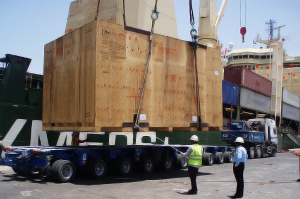 cargo container being unloaded by a shipping company in dubai cargo. The FCL and LCL services being provided are a good example in this picture of sea freight services and land freight services. Custom Clearance is the next step when custom clearing agents will pay custom duties on dubai port