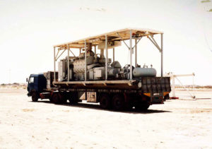 industrial heavy machinery is being loaded and going for delivery by theproject forwading company