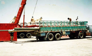 Heavy Rods for are loaded on trailers by the trained employees of the cargo company