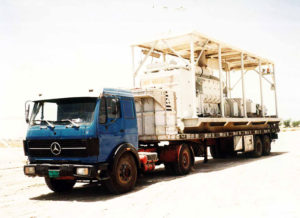 Heavy Industrial Equipment is waiting for his turn in Dubai custom office for custom clearance procedure.