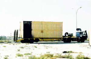 oversized cargo is on the way to oman from dubai.